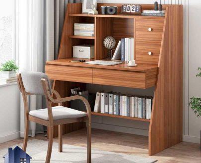 میز تحریر SDJ346 دارای کشو، کتابخانه، قفسه که به عنوان میز لپ تاپ، کامپیوتر، گیمینگ و میز کار و ترید در کنار سرویس خواب در اتاق قرار میگیرد.