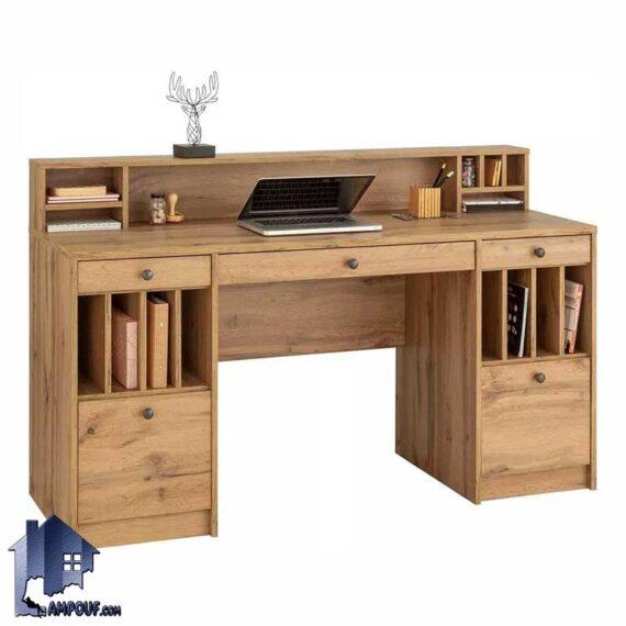 میز تحریر SDJ357 دارای قفسه و کتابخانه و کشو و ویترین که به عنوان میز کامپیوتر و لپ تاپ و مطالعه و یا میز کار مورد استفاده قرار میگیرد.