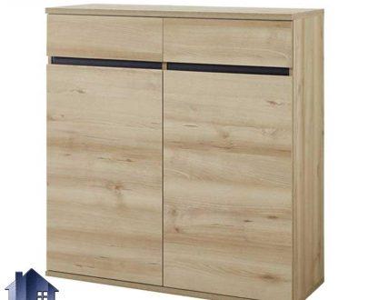 جاکفشی SHJ347 دارای کشو و قفسه و درب که به عنوان کمد کفش در قسمت ورودی منزل و یا اتاق خواب در کنار سرویس خواب مورد استفاده قرار میگیرد