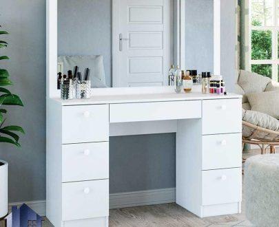 میز آرایش DJ559 دارای کشو که به عنوان میز گریم و توالت و یا کنسول و دراور آینه دار در کنار سرویس خواب در اتاق خواب قرار میگیرد.