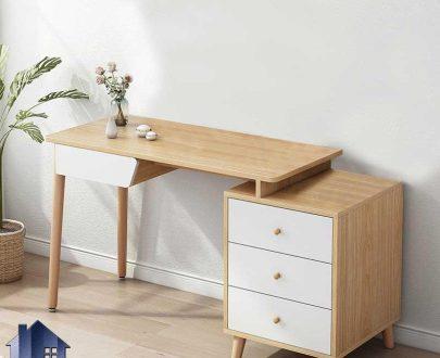 میز تحریر SDJ368 دارای پایه چوبی و کشو و دراور که به عنوان میز کامپیوتر، مطالعه و لپ تاپ فایلینگ در اتاق خواب و کار استفاده میشود.