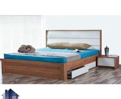تخت خواب دو نفره DBJ171 دارای کشو و دراور که به عنوان تاج باکس کینگ و کوئین و سرویس خواب دونفره در اتاق خواب مورد استفاده قرار میگیرد