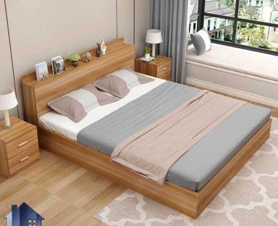 تخت خواب دو نفره DBJ172 به صورت تاج باکس که به عنوان سرویس خواب و تختخواب دونفره کینگ و کوئین در اتاق خواب بزرگسال استفاده میشود.