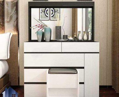 میز آرایش DJ568 دارای دراور و کشو دیوایدر دار که به عنوان کنسول آینه دار و میز توالت و گریم در کنار سرویس خواب در اتاق خواب استفاده میشود
