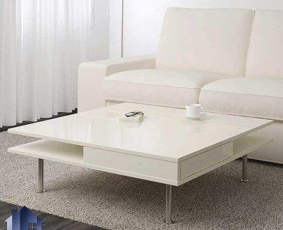 میز جلومبلی HOJ156 دارای کشو و قفسه که به عنوان جلو مبلی در کنار انواع مبل خانگی و اداری در پذیرایی و تی وی روم و سالن انتظار قرار میگیرد.