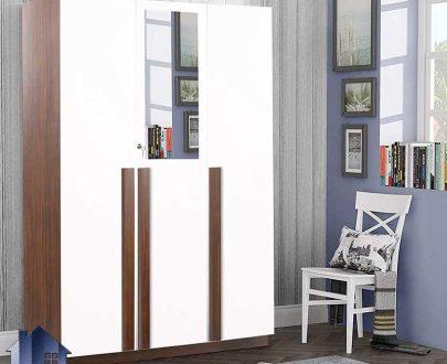 کمد جالباسی LHJ323 دارای کشو و آینه و قفسه و میله آویز رگال لباس که به عنوان استند لباس و کفش در کنار سرویس خواب در اتاق خواب استفاده میشود