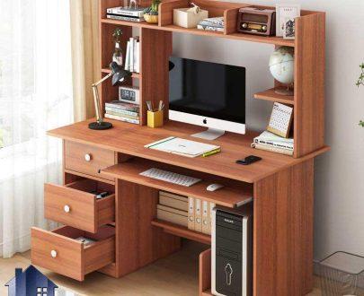 میز کامپیوتر SDJ372 دارای کشو و قفسه و کتابخانه که به عنوان میز تحریر و میز کار و یا میز گیمینگ در کنار سرویس خواب در اتاق استفاده میشود.