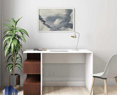 میز تحریر SDJ374 دارای قفسه و کتابخانه که به عنوان میز کامپیوتر و لپ تاپ و مطالعه در کنار سرویس خواب در اتاق خواب و اتاق کار استفاده میشود