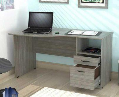 میز تحریر SDJ375 قفسه و کتابخانه دار که به عنوان میز لپ تاپ و کامپیوتر و مطالعه در کنار سرویس خواب در اتاق خواب و اتاق کار استفاده میشود