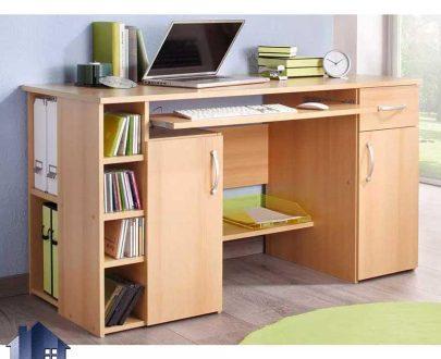 میز کامپیوتر SDJ377 دارای جای کیس و کیبورد و کشو دار به عنون میز تحریر، لپ تاپ، مطالعه در کنار سرویس خواب در اتاق خواب و کار استفاده میشود.
