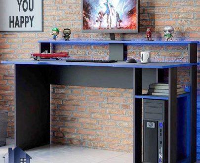 میز گیمینگ SDJ415 دارای قفسه و جای کیس که برای بازی کامپیوتری و رایانه ای و یا به عنوان میز کامپیوتر و لپ تاپ و میز تحریر استفاده میشود.